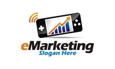 E- Marketing logo vector