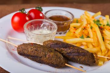 Arab food. Kebab. Lula kebab.