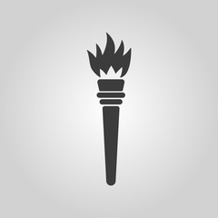 The torch icon. Torch symbol. Flat