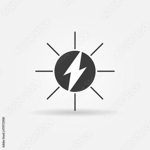 Solar energy black vector icon - 79772908