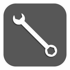 The wrench icon. Settings symbol. Flat
