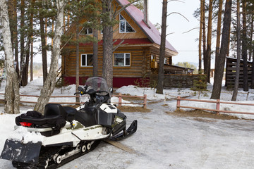 Snowmobile at home