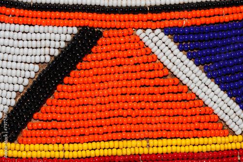 Staande foto Afrika African beads of the Masai tribe, Kenya