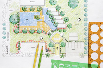 Landscape Architect Design resort plan