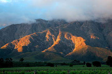 Scenic mountain landscape, Western Cape