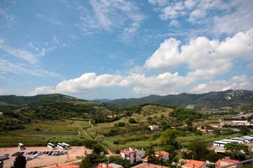 town Calella on the coast of the Mediterranean Sea Spain