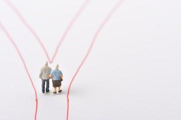 夫婦と分かれ道