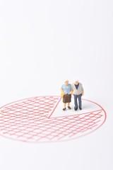夫婦と人口のグラフ