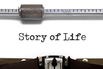 Story of Life Typewriter