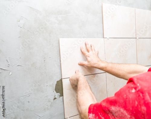 Poster House renovation - tiles on wall