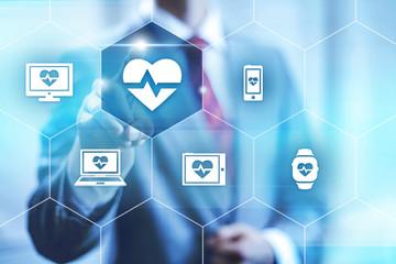 Health application, virtual interface