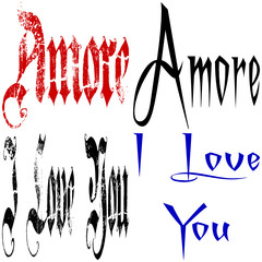 Amore collage