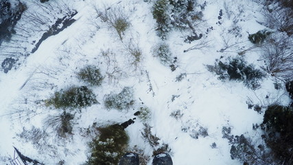 Landing from ski lift