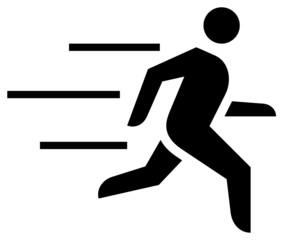 Fast running man icon