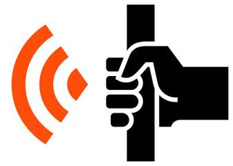 WiFi in public transport icon