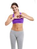 Happy athletic woman