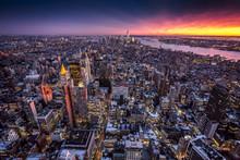Вид сверху Нью-Йорк