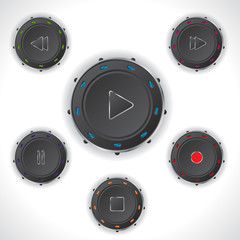 Cool audio controller push buttons