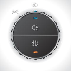 Digital light control gauge for automobiles