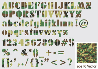 Military camouflage font