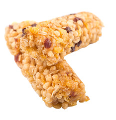 Cereal bar over white background