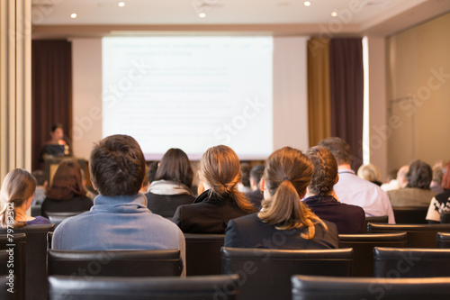 Audience in the lecture hall. - 79782502