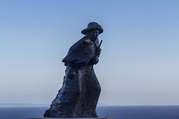 Homenaje al peregrino en Finisterre