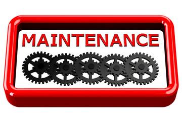Word maintenance written on box isolated on white background