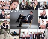 Collage erfolgreicher und motivierter Mitarbeiter