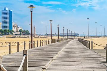 Wooden footbridge over sands of Figueira da Foz