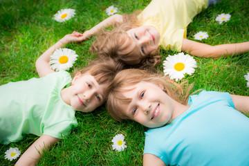 Children in spring