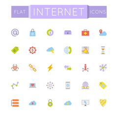 Vector Flat Internet Icons