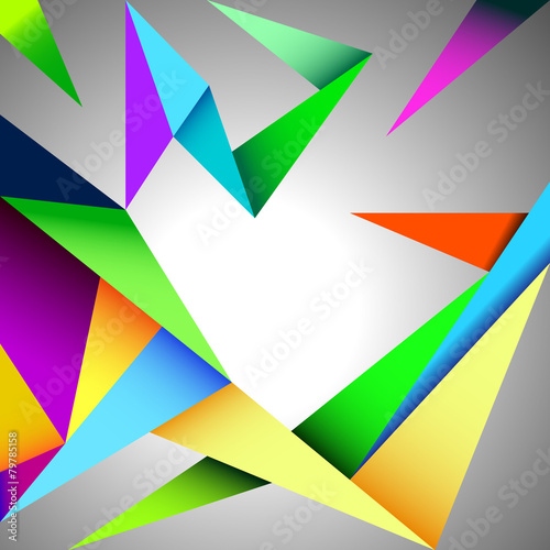 Abstract background, polygonal shapes. Vector illustration - 79785158