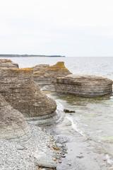 Sea stacks at sea shore