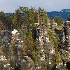 Rocks near the famous Bastei in Swiss Saxony