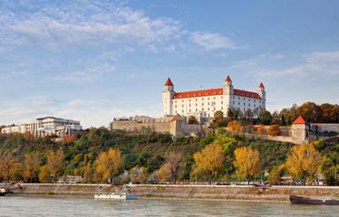 Bratislava castle at autumn, Slovakia