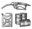 oil, gasoline on a white background - 79787926