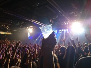 Zuschauer auf einem Rockkonzert