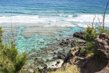 Ocean along Punalau coast, Maui, Hawaii