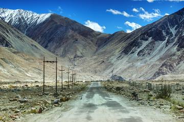 Road, Mountains of Leh, Ladakh, Jammu and Kashmir, India
