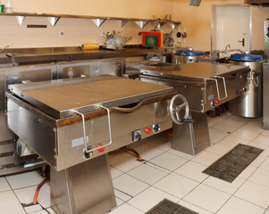 Typical kitchen of a food processing plant
