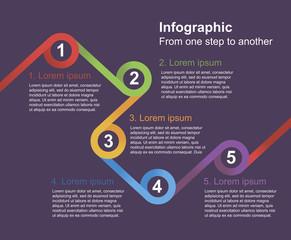 Infographic elements. Instruction steps.