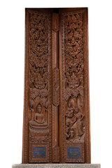 Ancient wood carvings in Thailand