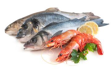 Assorted fresh seafood