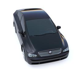Black car isolated on white background