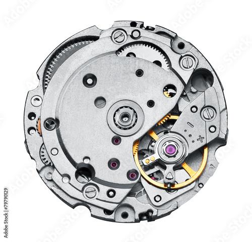 Clock mechanism with gears