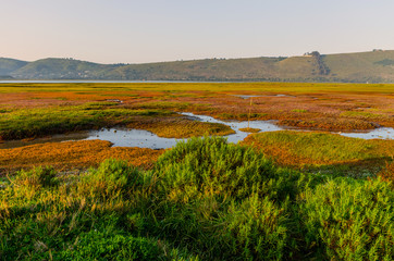Sunrise over Knysna Lagoon