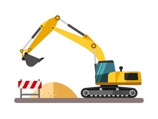 Construction machinery - excavator.