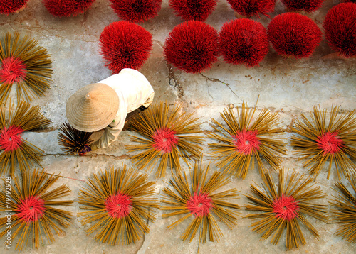 Tuinposter Overige Incense sticks drying on the sun