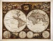 Leinwanddruck Bild - Vintage World map